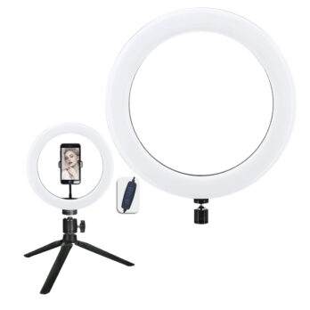 AC3 – Ring Light – 26Cm – Iluminador De Led Com Suporte